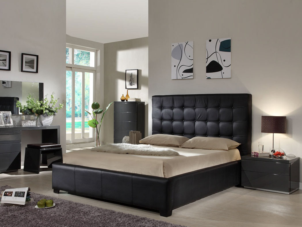 Moderne woning idee n slaapkamer set queen bedroom set - Black queen bedroom furniture set ...
