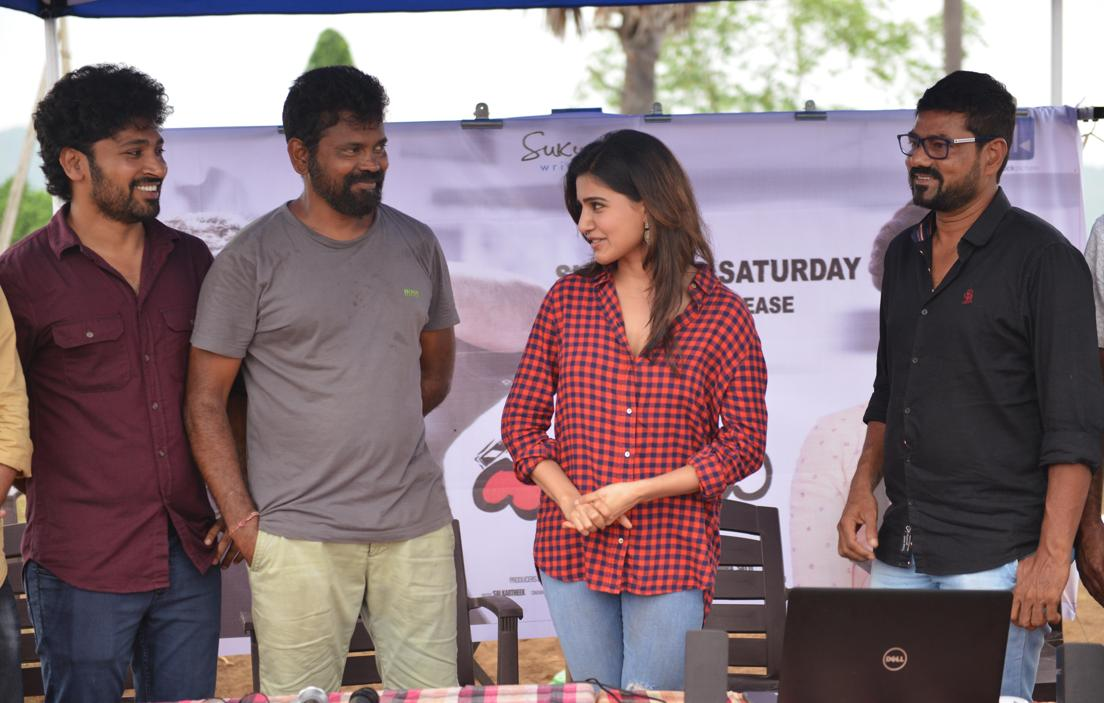 Samantha At New Telugu Movie Launch Photos In Maroon Shirt Jeans