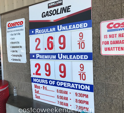 Costco gas for July 9, 2017 at Redwood City, CA