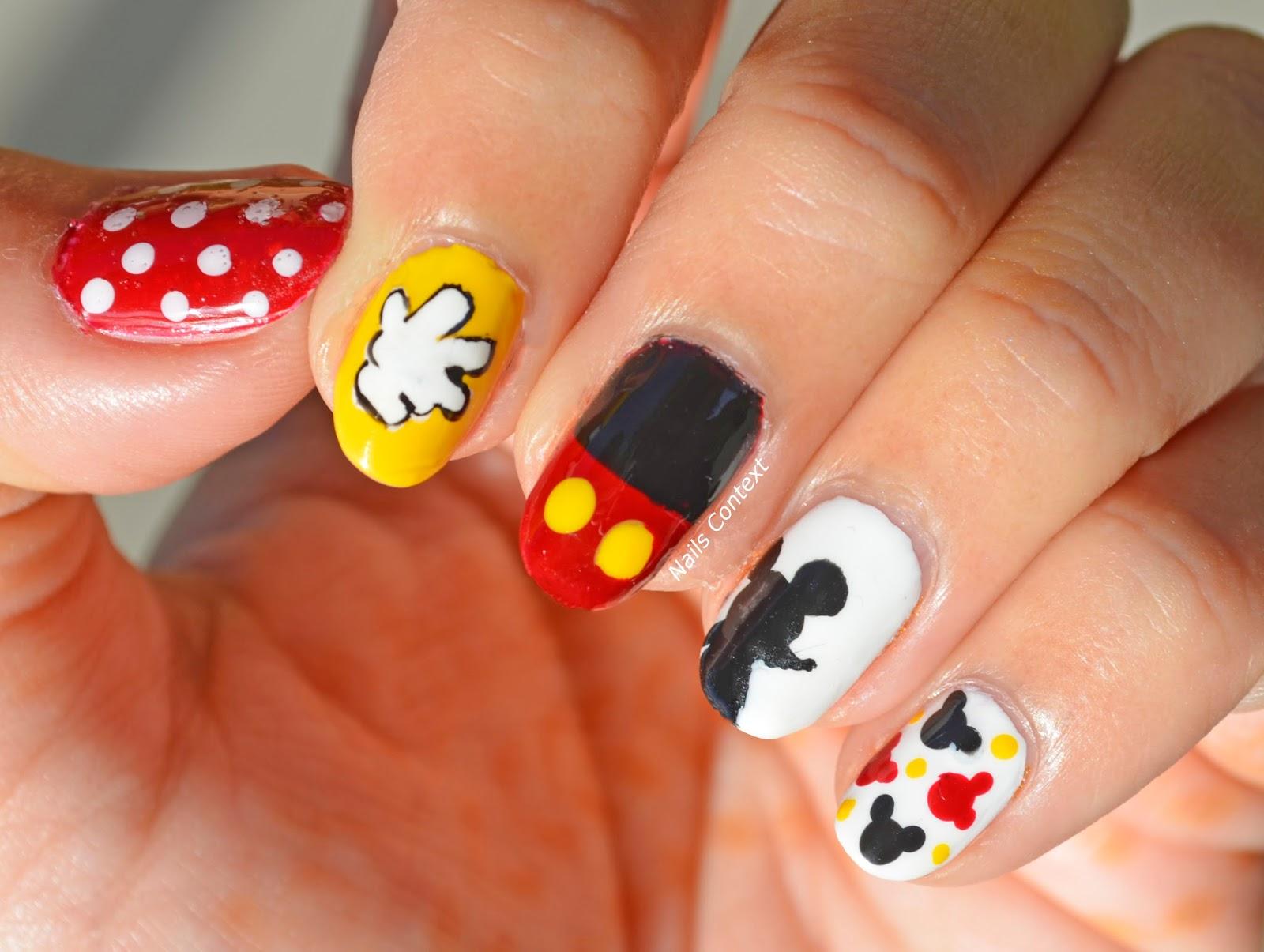 Nails Context Mickey Mouse Nails