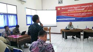 STIE Putra Bangsa Adakan Seminar Akuntansi Pengelolaan Dana Desa