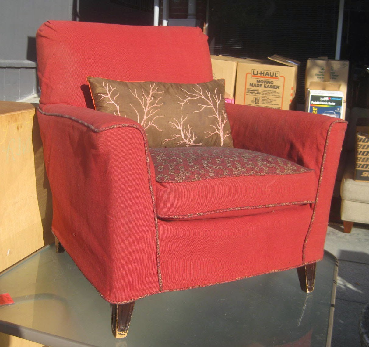 Red Club Chair Slipcovers Kmart Uhuru Furniture And Collectibles Sold 50