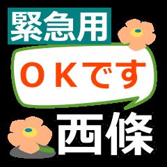 Emergency use.[saijo]name Sticker!
