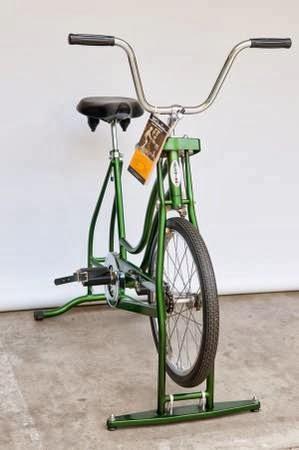 Heygreenie Vintage 60 S Schwinn Exerciser Green Stationary Exersize Bike Nice Sold