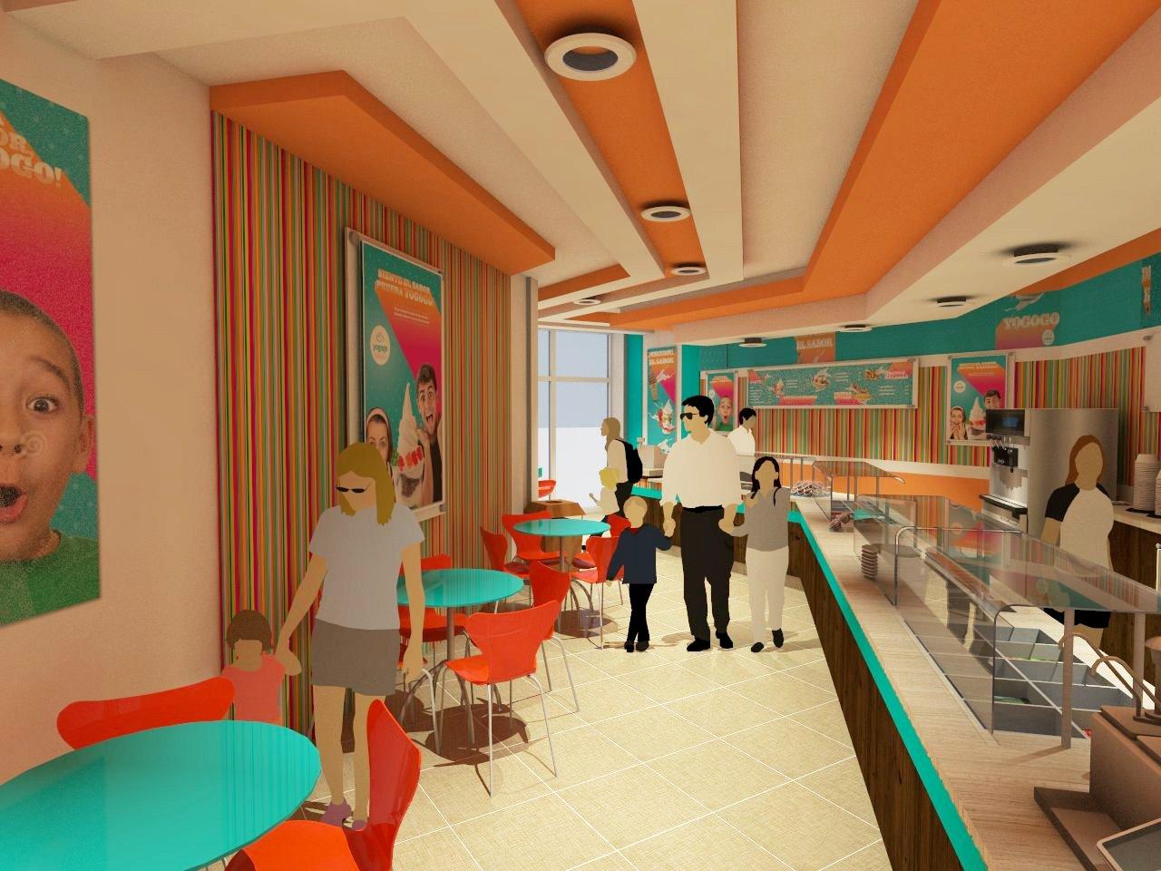 Arquitectura martin abel local comercial yogurt yogogo - Arquitectura interior ...