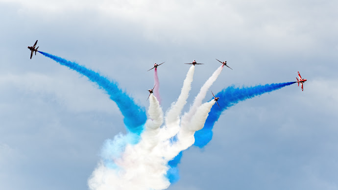 Wallpaper: Red Arrows Airplanes at Sywell Air Show