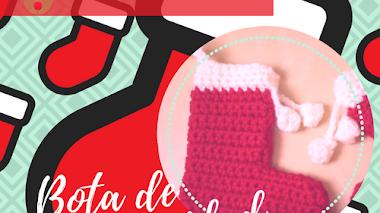 Botita de navidad a crochet