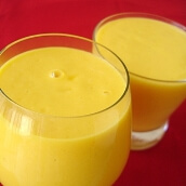 عصير المانجو بالبن