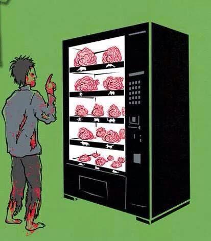 Meme de humor sobre los zombis y el vending