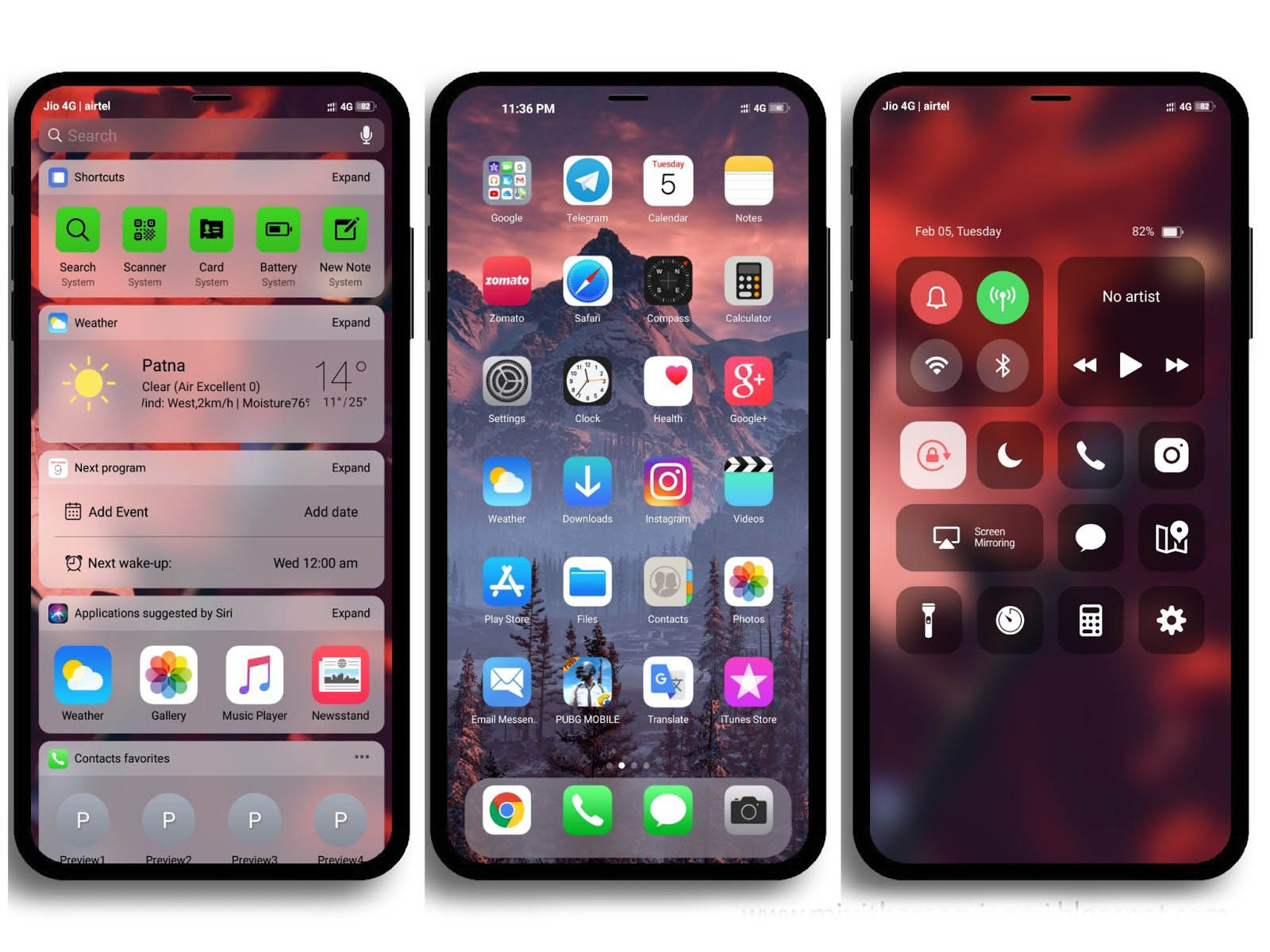 iPhone XS Max MIUI Theme Downloaded For Xiaomi Mobile