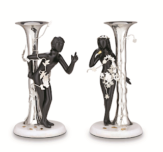 FRAZER AND HAWS - CANDLE STAND ADAM AND EVE RS,34000