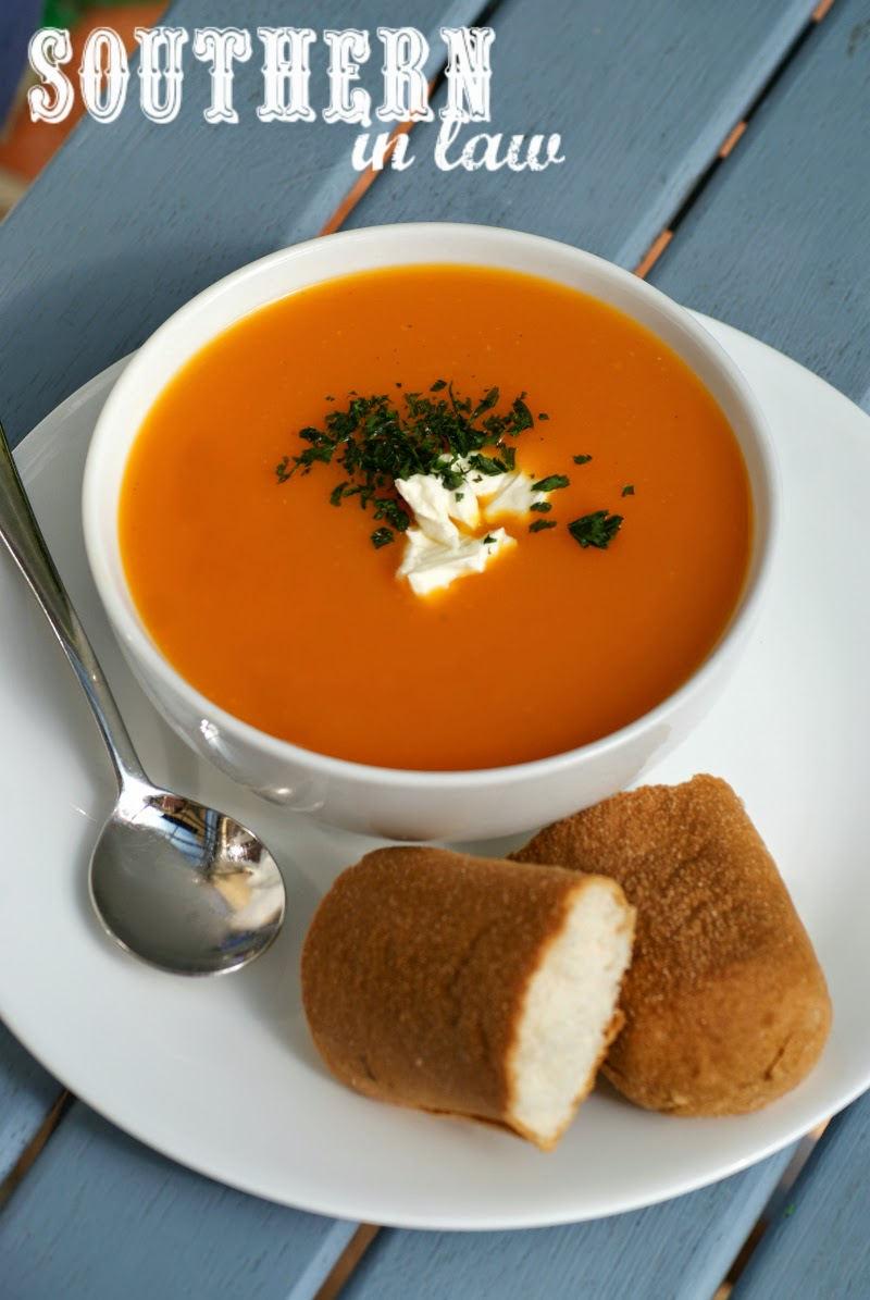 Gluten Free Pumpkin Carrot and Sweet Potato Soup Recipe without Onion | Healthy, low fat, gluten free, vegan, sugar free, clean eating friendly