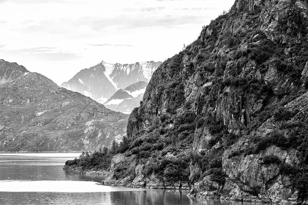 Glacier Bay in Black and White