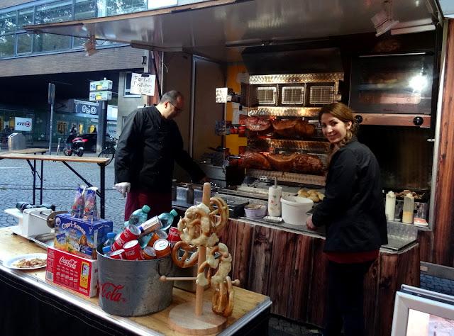 Meet & Eat street food market at the Rudolfplatz in Cologne, Germany