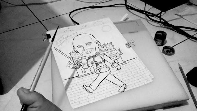caricatura en blanco y negro