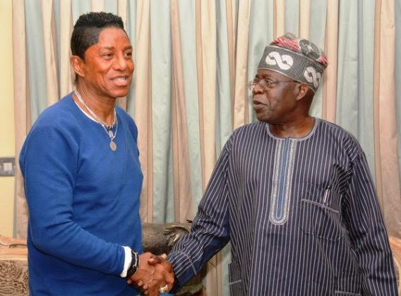 Late Legend King of Pop Michael Jackson's brother Jermaine Jackson visited APC National leader, Bola Tinubu at his Ikoyi, Lagos