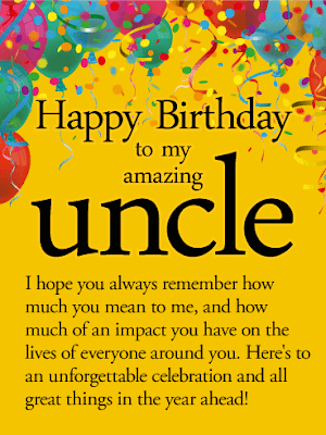 happy birthday uncle poems