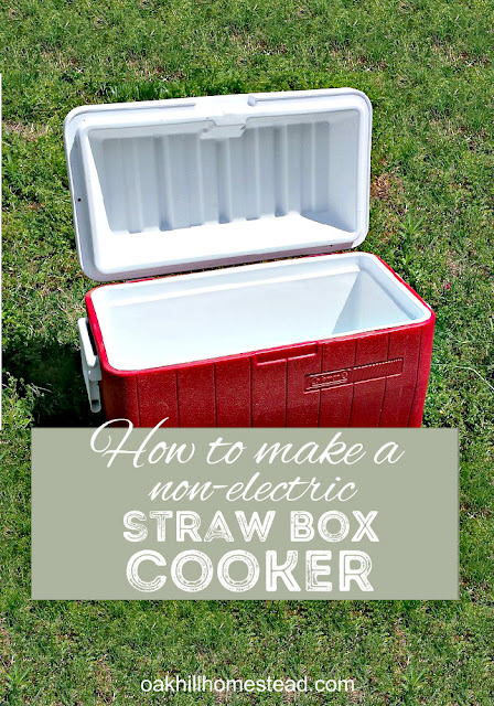 How to make a non-electric slow cooker using a cooler. Great for power outages and camping.