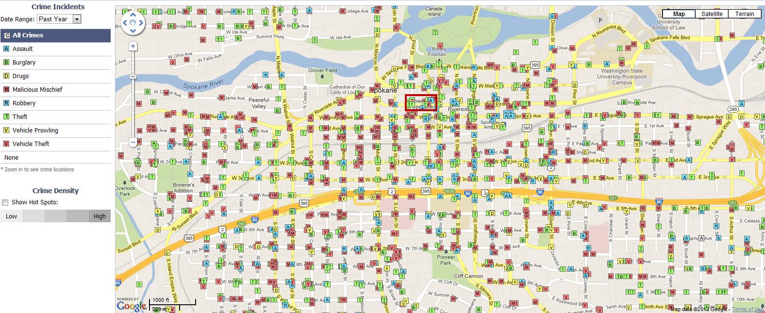County Map Spokane Crime