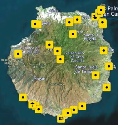Luoghi visitati a Gran Canaria