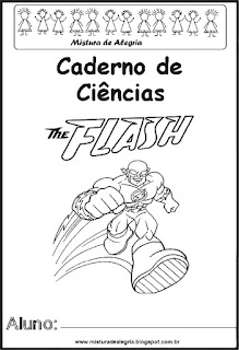 Capa para caderno The Flash