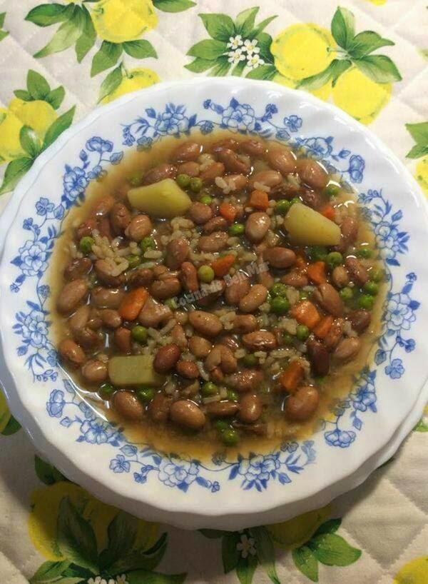 La cocina de beli mar potaje de jud as pintas con arroz - Arroz con judias pintas ...