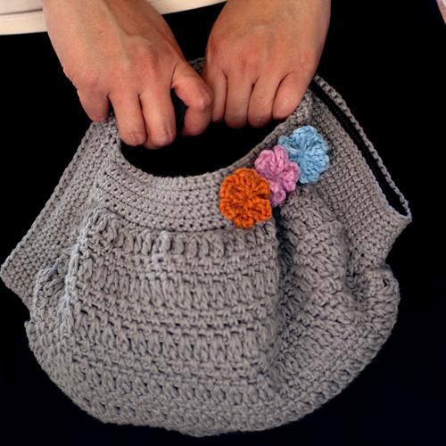 Natural Bouclé Bag - Free Pattern