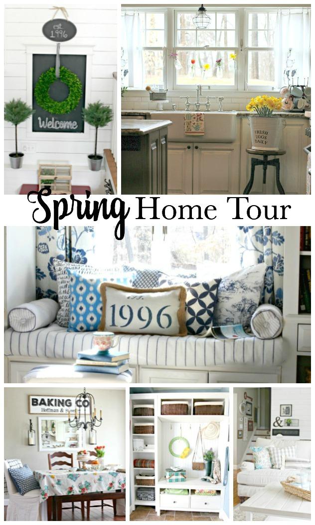 Spring home tour of completely renovated split level home - www.goldenboysandme.com