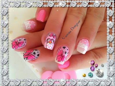 Imágenes de uñas decoradas con diseños bonitos 2015