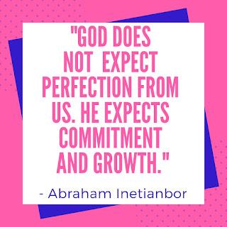 God expects growth