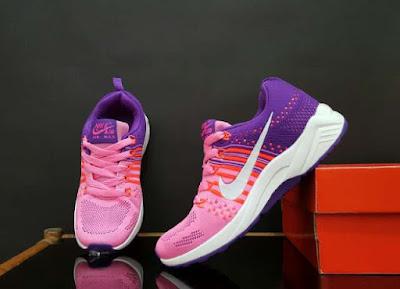 Sepatu Nike Free Flyknite Women (import) Pink Purple