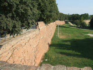 Ferrara has 9km of ancient walls, with walkways and cycle  paths along most of its length