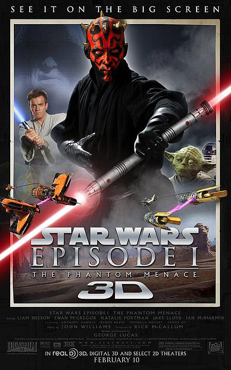 The Phantom Menace 3D Poster