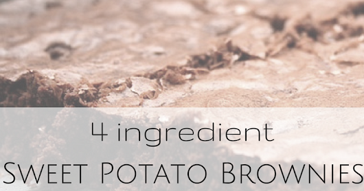 4 ingredient sweet potato brownies