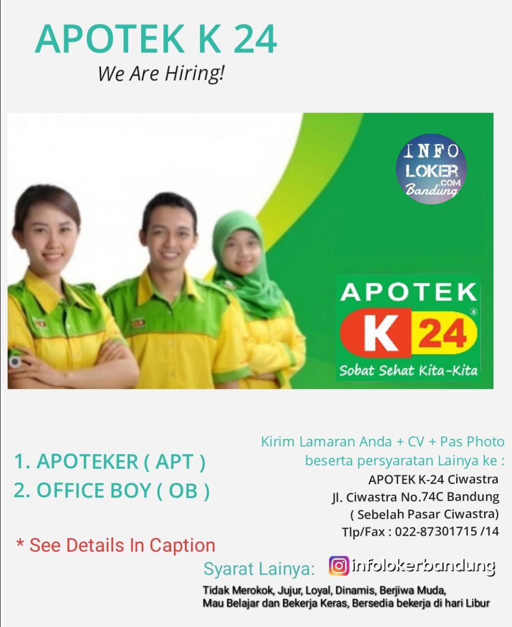 Lowongan Kerja Apotek K 24 Bandung September 2018