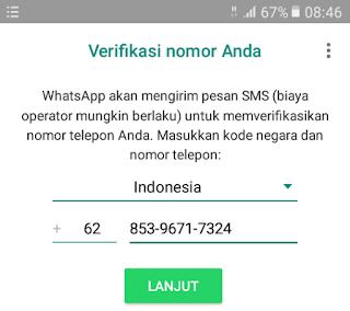 Verifikasi nomor baru untuk akun WhatsApp baru