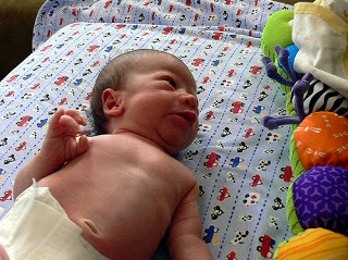 Image: Bare chested boy - 19 days old, by Jessica Merz, on Flickr
