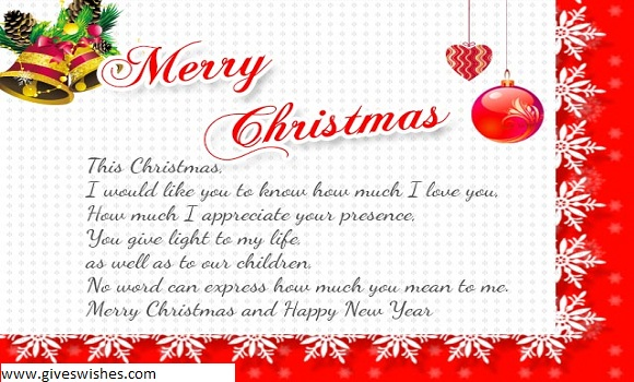 Best 30 Christmas Message For Wife And Happy New Message For Beautiful Wife - By Giveswishes