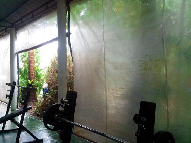 Шторы в спортзале в Таиланде