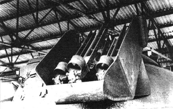 "Пусковая установка для трех ракет ""Малютка"" на башне танка Т-10М"