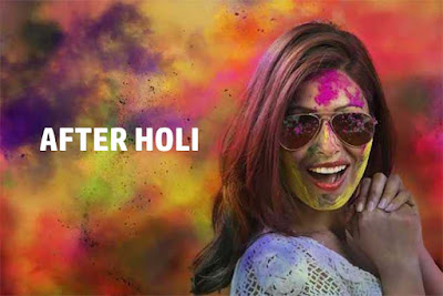 After playing Holi you should care of following steps