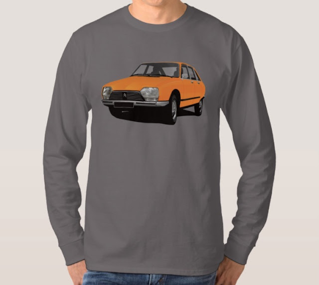 Classic cars - CItroën GS - shirts