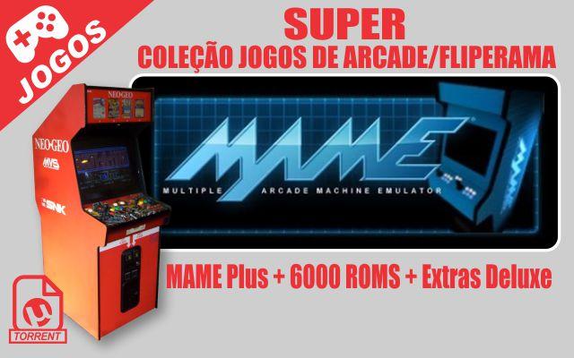 MAME Plus + 6000 ROMS + Extras Deluxe - Super Coleção com