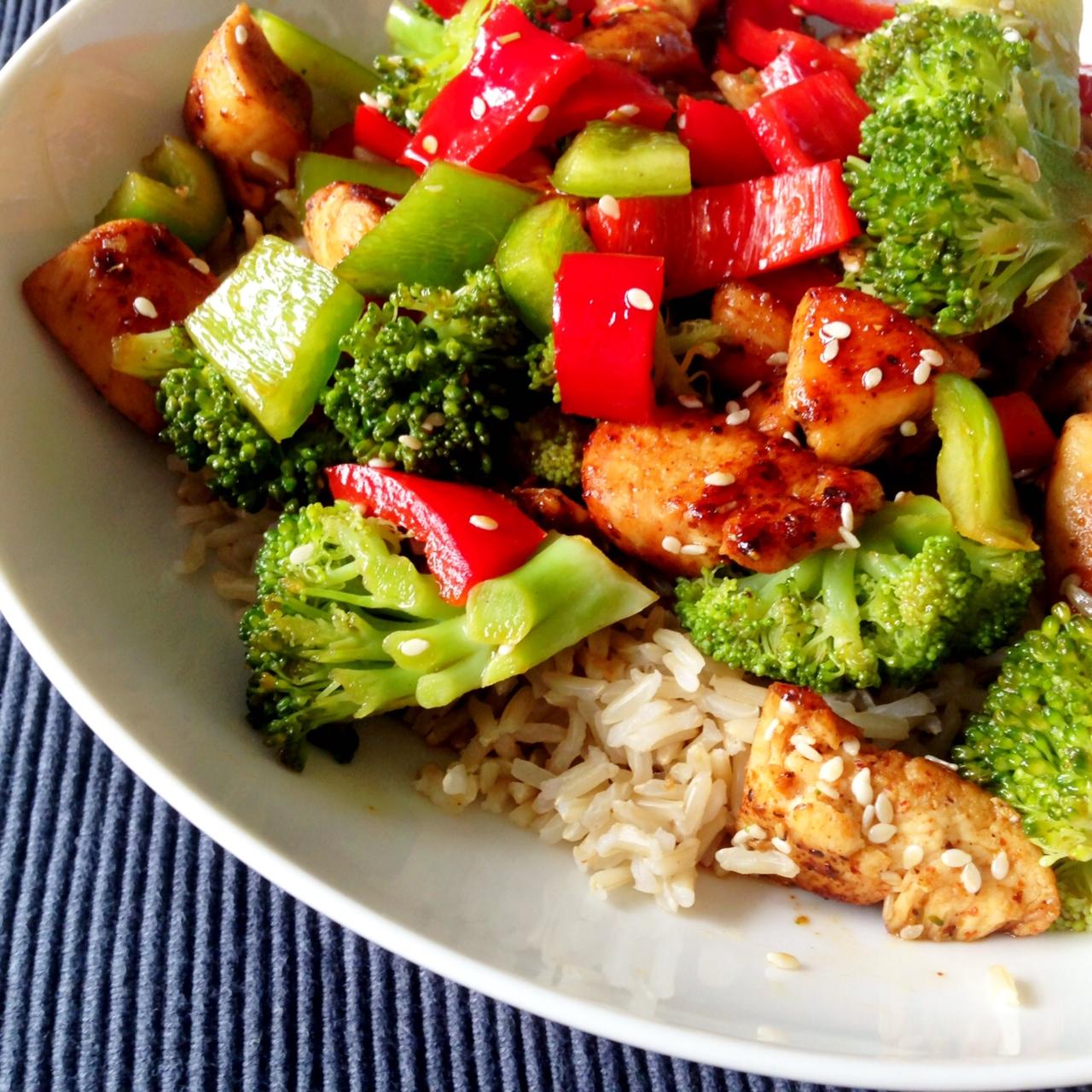 Healthy Dinner Recipes: Healthy Living In Heels: Dinner Recipe: Sesame Chicken
