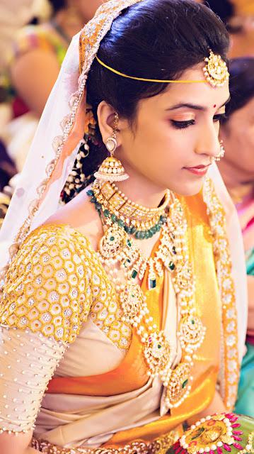 Indian Bridal Dress, Indian Bridal looks, Wedding Dress Ideas, Wedding Dresses, Indian Wedding Dress, wedding saree, Indian Wedding Saree, Andhra bridal wear, Telugu bridal wear,