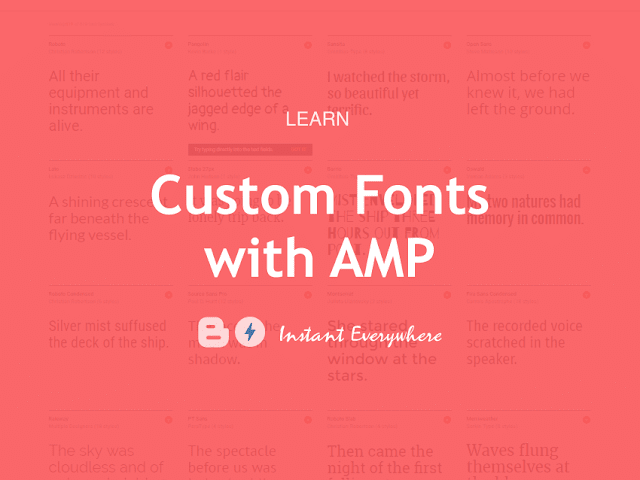 Add Custom Fonts Icons Blogger AMP Template