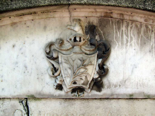 Detail of the tomb of the Swedish consul Peter Wilhelm Törngren, Old English Cemetery, Livorno