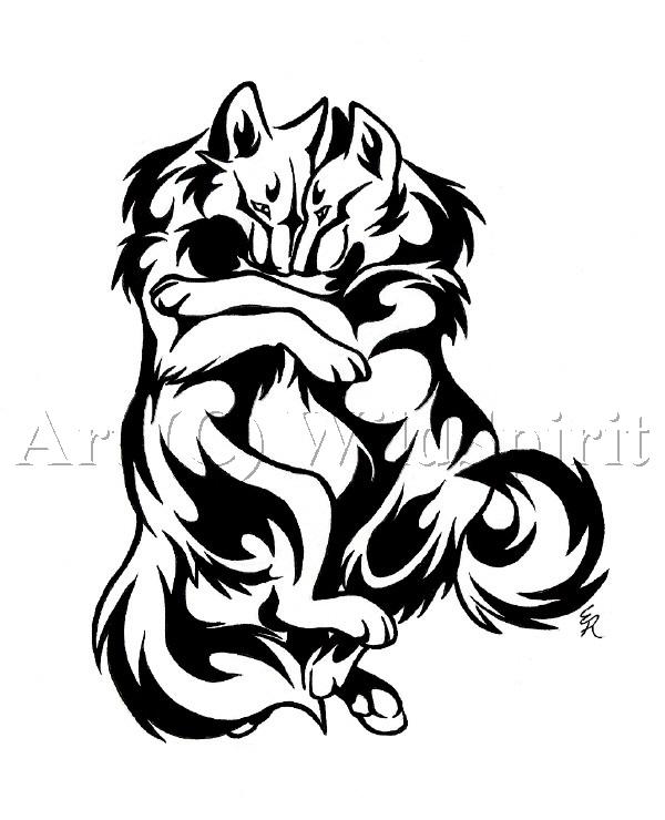 Все самое интересное.: Татуировка Волки.