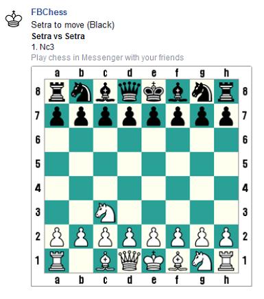 Facebook a caché un jeu d'échecs  © Chess & Strategy