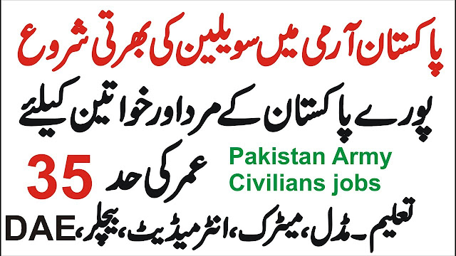 Pak Army Civilian Jobs 2021 Download Application Form